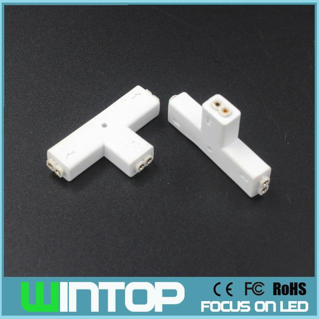 2018 2pin t type connector led strip light connector free see larger image aloadofball Image collections