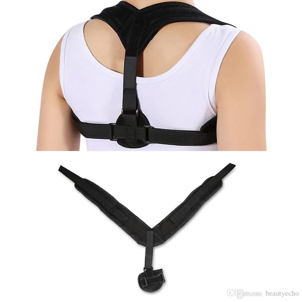 Ayarlanabilir Arka Duruş Düzeltici Clavicle Düzeltme Bant Omuz Brace Üst Geri Duruş düzeltme Korse Omurga Destek Kemeri + B