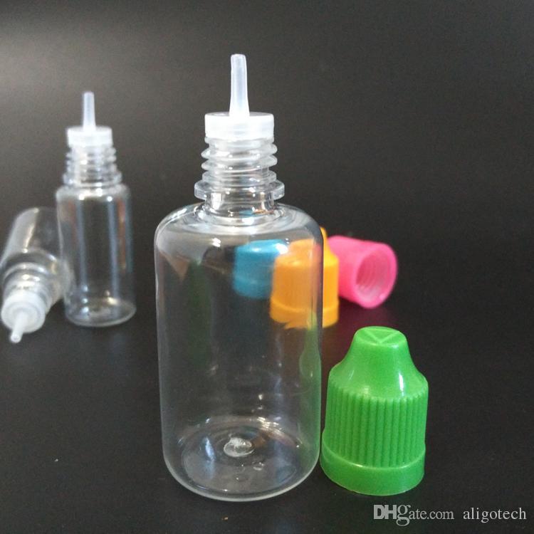30ml PET Dropper Bottles Limpar Gota Garrafa Colírio garrafas vazias de plástico com cores para crianças Cap E óleo líquido