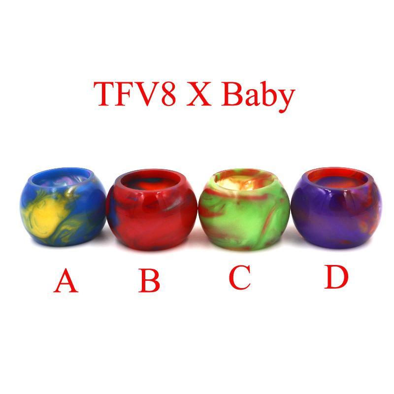 Tubo de resina de colores Tapas de repuesto Gran capacidad para cigarrillos electrónicos Vaso TFV12 TFV8 Bebé X-Baby Big Baby Tanque Atomizador Goteo Punta