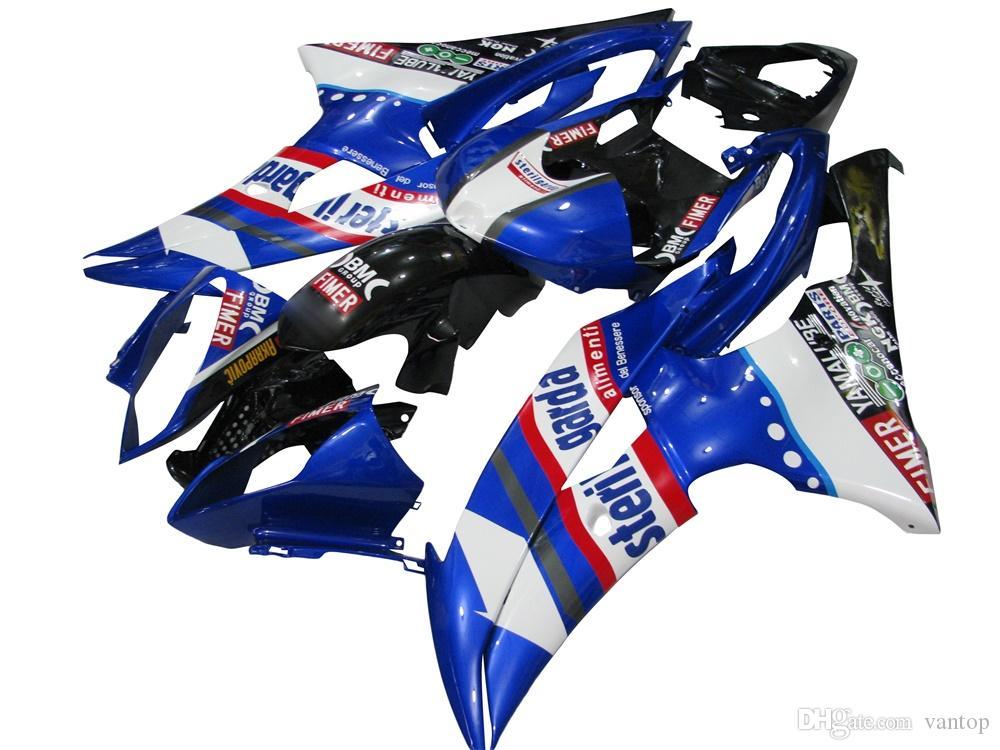 Cadre de moto moule d'injection Kit Carénage complet du corps pour YZF600 YZF R6 2008 2009 2010 2011 2012 2013 2014 Noir Jaune Rouge