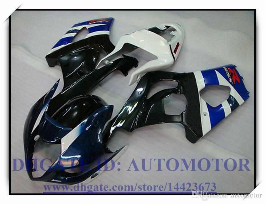Инжекционный обтекатель подходит для Suzuki GSXR1000 2003 2004 GSX-R1000 2003 2004 GSXR 1000 03 04 # IE763 ЧЕРНЫЙ СИНИЙ БЕЛЫЙ