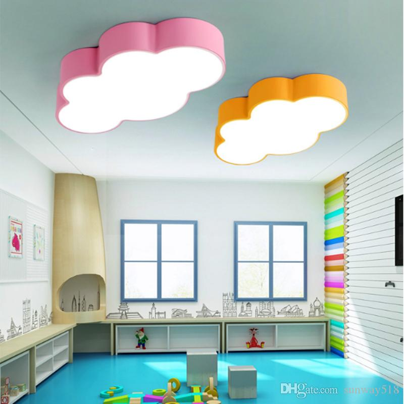 best led cloud kids room lighting children ceiling lamp baby ceiling light with yellow blue red. Black Bedroom Furniture Sets. Home Design Ideas