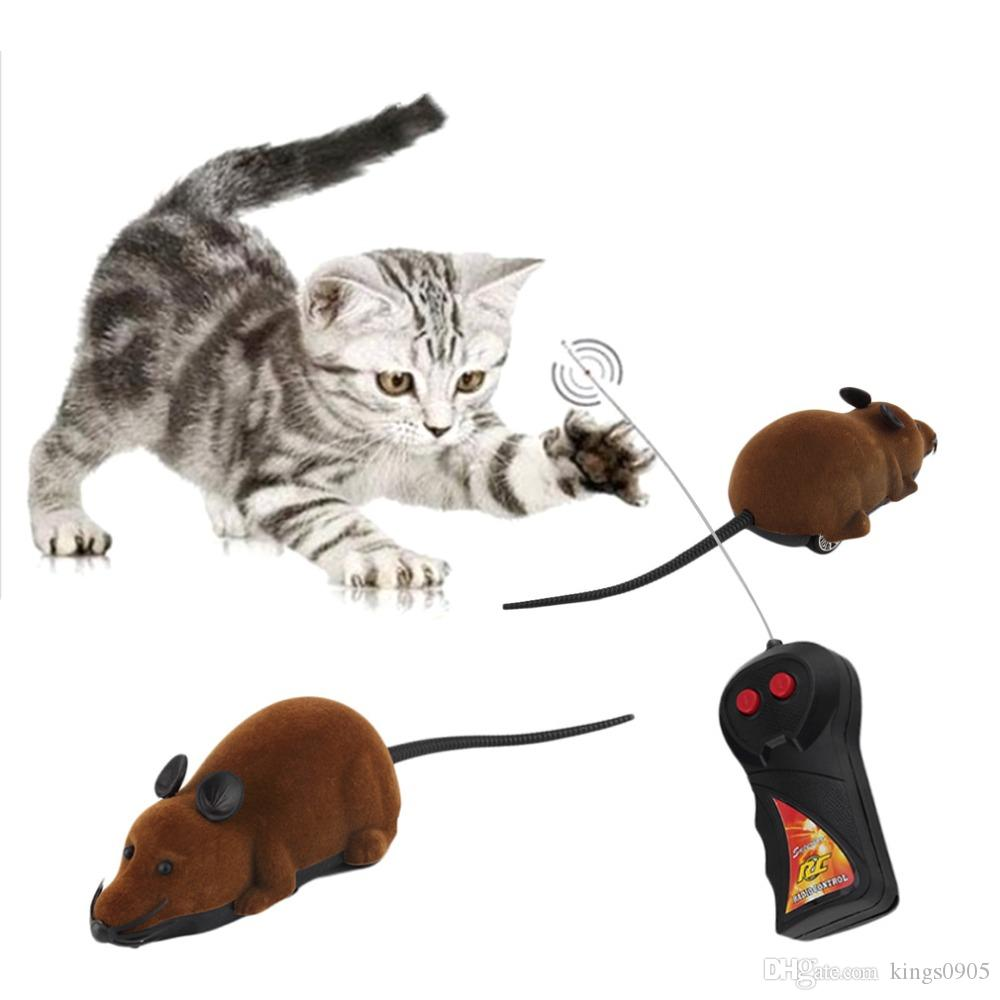 2017 Hot Sale Scary Remote Control Simulation Plush Mouse Mice Kids Toys Gift for Cat Dog
