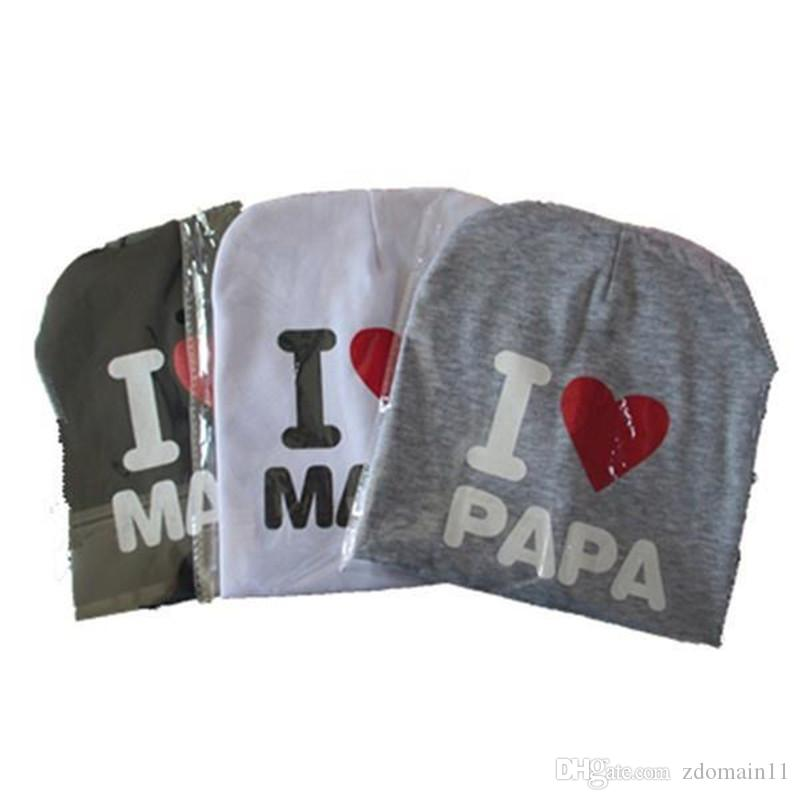 5b908cbb776 Baby I Love Mom And Dad Caps Infant Cotton Children Hats Beanies Cap for Toddler  Boys Girls Baby I Love Mom And Dad Caps Infant Cotton Children Hats Beanies  ...