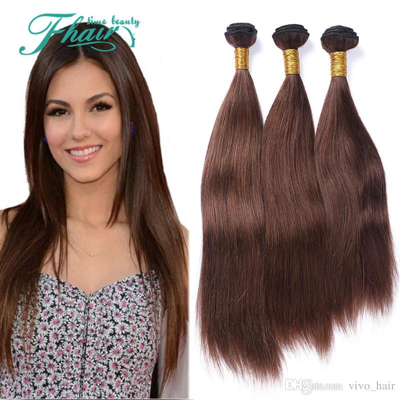 9a Virgin Brazilian 4 Chocolate Color Hair Wefts Extensions Silky