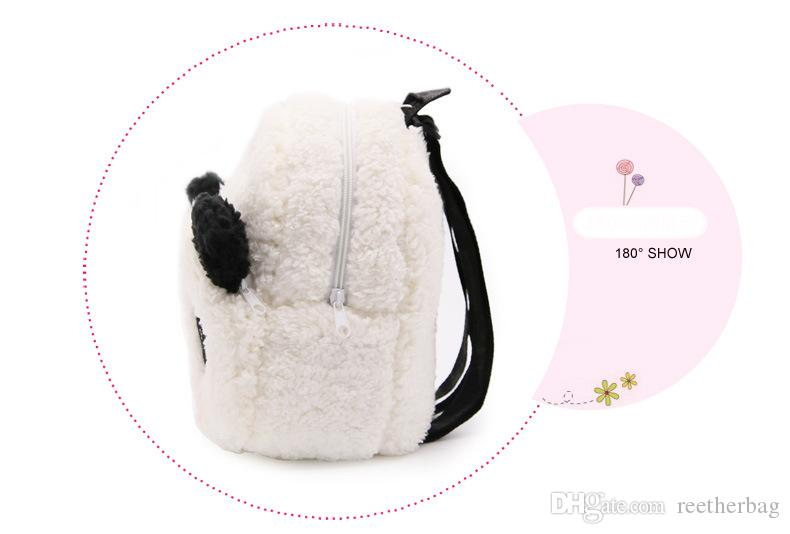 Cute Panda Baby Backpack Plush Lovely Cartoon Backpack Children Small School Bag Kindergarten Kids Snacks Backpack