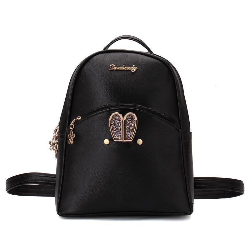 7735dacdc7080 Backpacks Women Custom Stylish cartoon Bags Bunny Kid's School Bag For Boys  Girls Black Leather Backpack for Girls Schoolbag