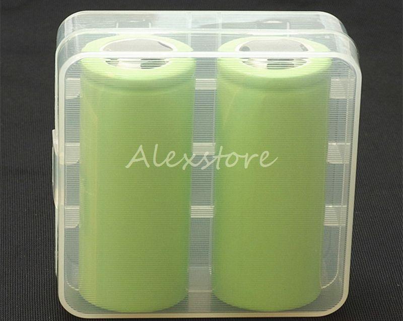 100 stks Draagbare Plastic Batterij Case Doos Veiligheid Houder Opslagcontainer 5 Kleuren Pack-batterijen voor 2 * 26650 of 3 * 18650 Lithiumbatterij DHL