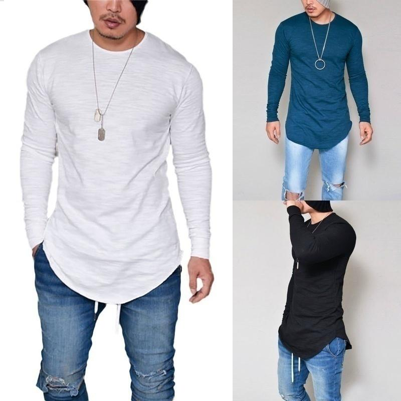 2017 New Men Casual T Shirt Cotton Long Sleeve O Neck Silm ...