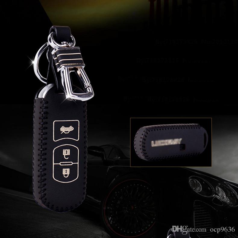 Brand New High Quality Genuine Leather Remote Control Car Key Case Wallet Bag Cover For Mazda Angkesaila Cx 5 Tezi Cx 7