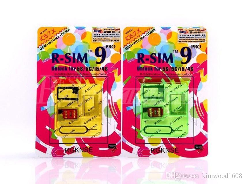Original R-SIM9 Pro Perfect SIM Card Unlock Official IOS 7.0.4 7.1 For iphone 4S/5/5S/SE GSM CDMA WCDMA