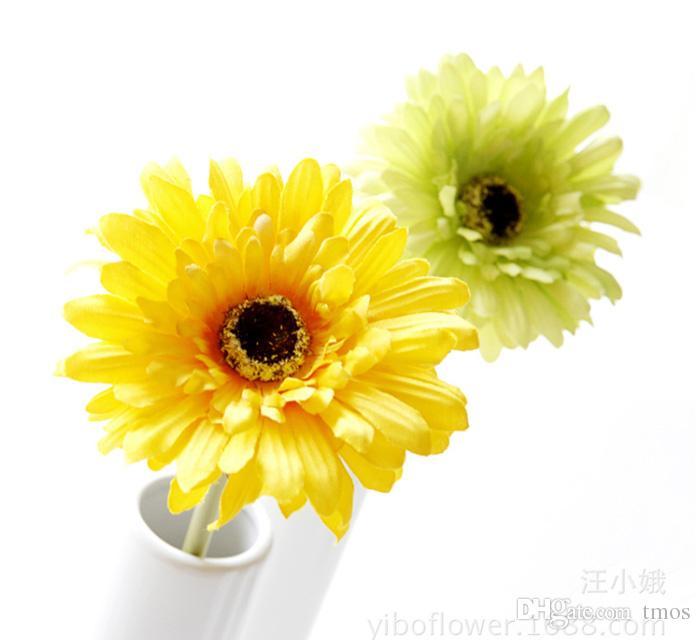 """MOQ Silk Sunflower Bridal Bouquet 4"""" head Gerbera Daisy Artificial Flower Wedding Home Decor Festive Party Supplies Decorative Flowers"""