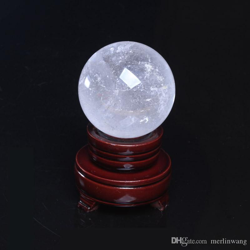Wholesale 400g Natural Clear Crystal ball Gemstone Sphere Healing Reiki Crystal balls Home Decorations stand
