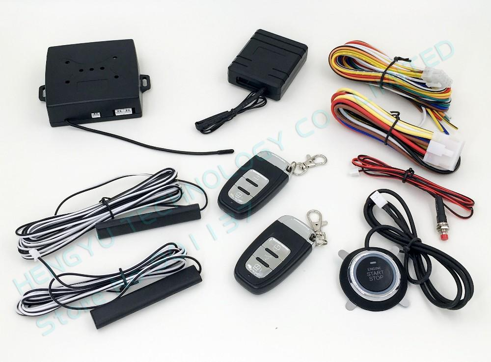 Best Pke Car Alarm System Push Start Stop Button,Passive Keyless ...