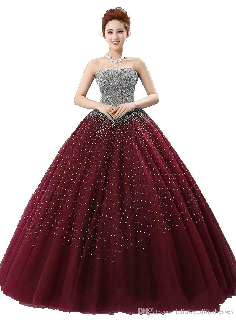 2021 New Elegant Blue Beads Ball Gown Quinceanera Dresses Beaded Crystals Sequin Floor Length Sweet 16 Years Prom Pageant Gown Q57