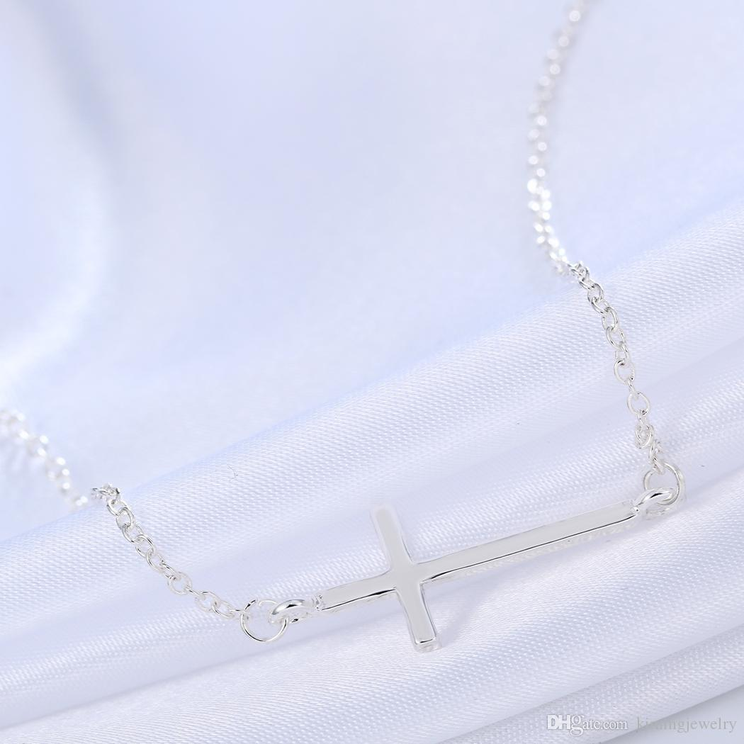 New Style Christian Praying Silver Gold Plated Cross Necklace for Women Jewelry Israel Jesus