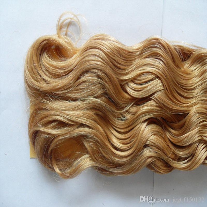 Blond Brazilian Hair Weave Body Wave Brazilian Hair Weave Bundles Honey Blonde Weave Hair 100g