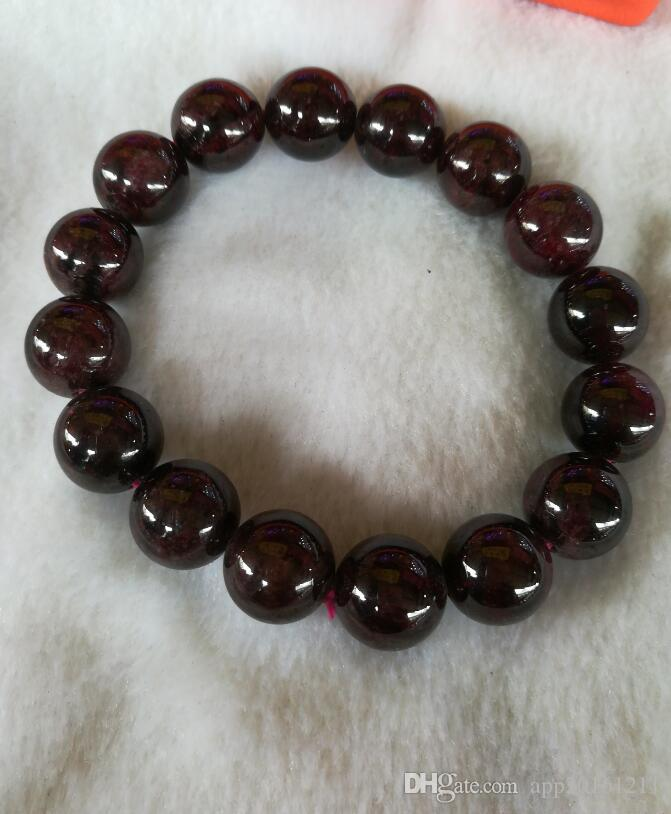 Chinese natural wine red garnet bracelet with
