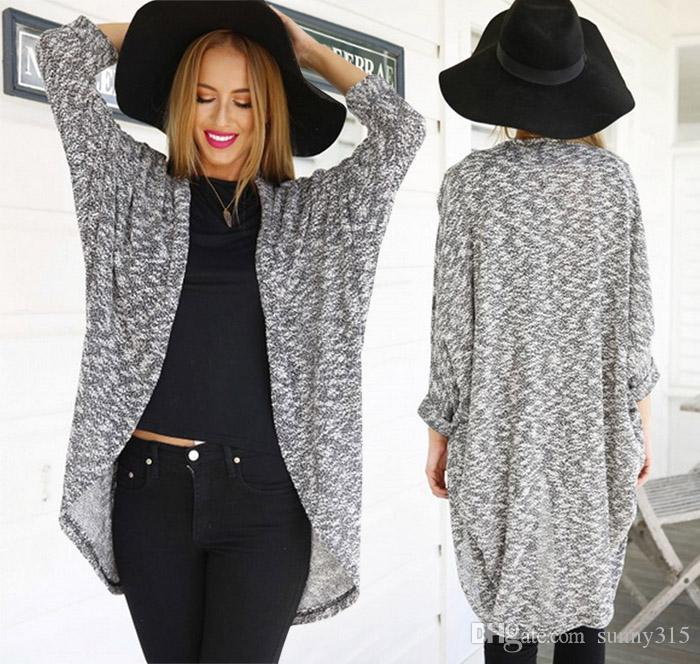 2019 European And American Plus Size Sexy Women Dolman Sleeve Cardigan Poncho  Cape Coat Cloak Mantle Trench Coat Spring Autumn Outerwear From Sunny315 b12aedd6a