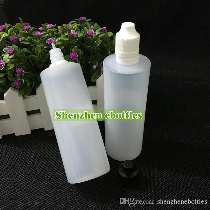 Qualitäts-freies Verschiffen weiche Art-PE-Nadel Flasche 120ML Plastiktropfflaschen Kindersichere manipulations Caps LDPE E Flüssigkeit Empty Bottle