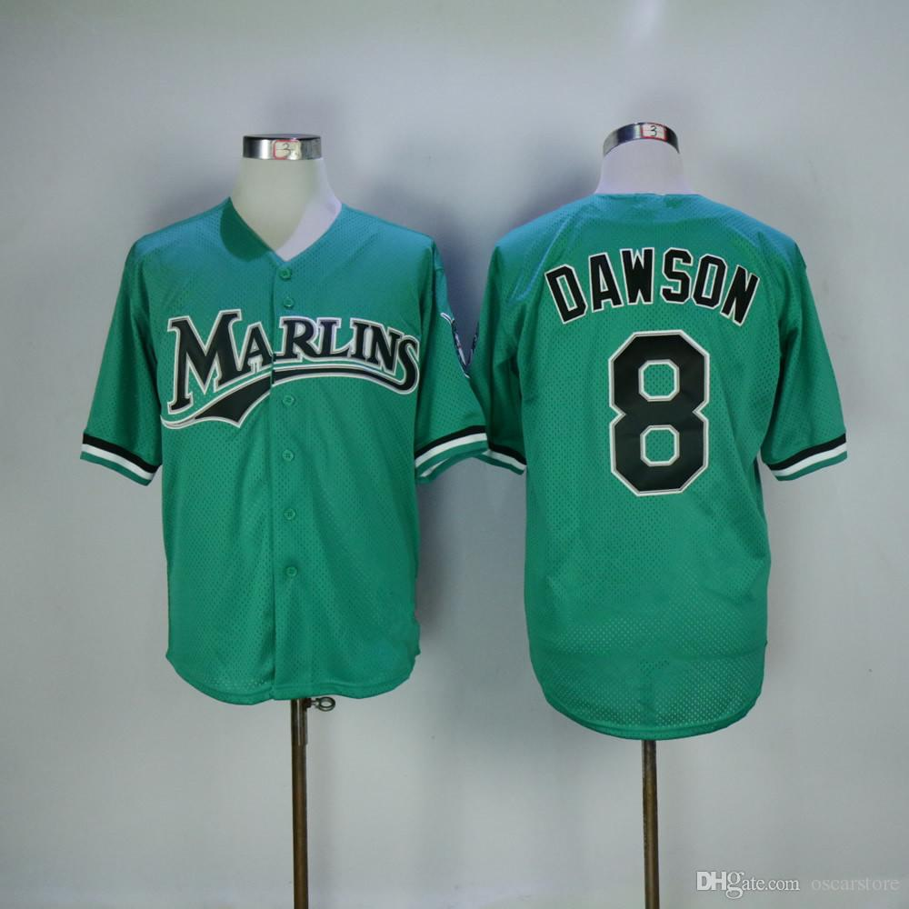 90b4bbe9 ... discount code for florida marlins jerseys 8 andre dawson jersey  flexbase cool base home away white
