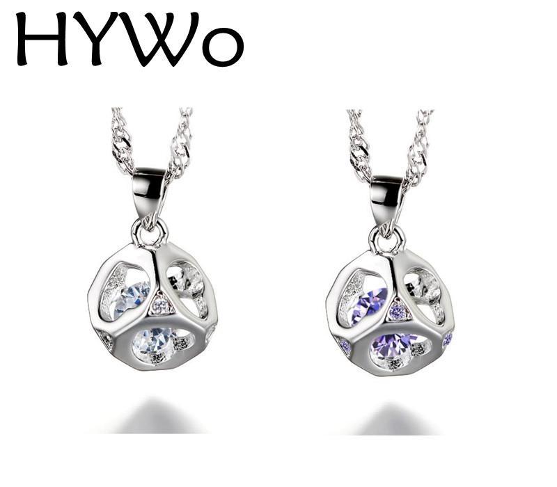 HYWo senza catena Regali gli amanti di uomini / donne Collana in argento sterling 925 con ciondolo Love cube Gioielli ipoallergenici