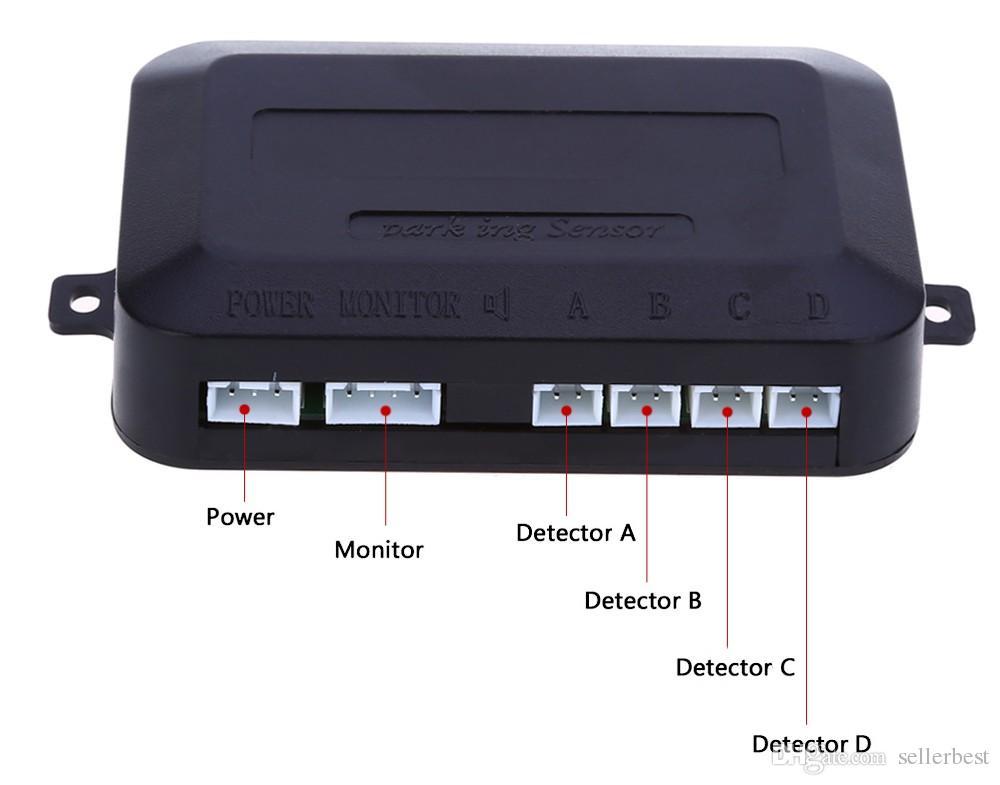 4 capteurs de stationnement Assistance auto arrière arrière Sauvegarde du parc Alarme radar Kit de surveillance Système Anglais Notification vocale
