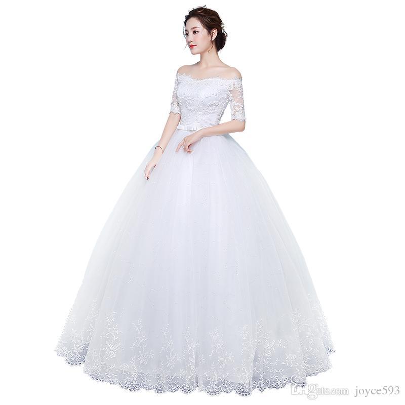 Großhandel Hochzeitskleid 2017 Die Braut Elegante Boot Hals ...