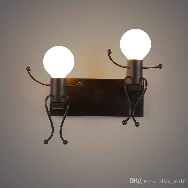 2018 Modern Creative Cartoon Led Wall Lamps Children Room Wall Light Bedroom Bedside Wall Sconce ...