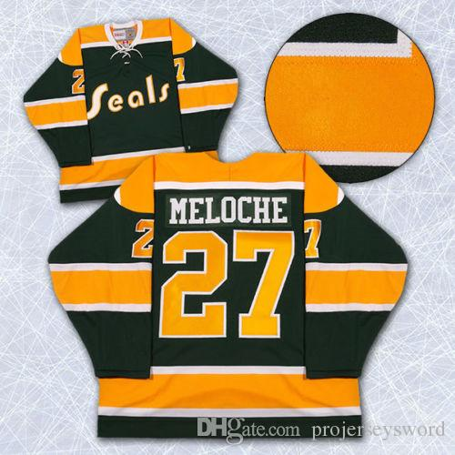 fa8de720f 2019 California Golden Seals Jersey Blank 27 Gilles Meloche 22 Joey Johnston  7 Reggie Leach 8 Walt Mckechnie Jerseys Any Name And Any Number From ...
