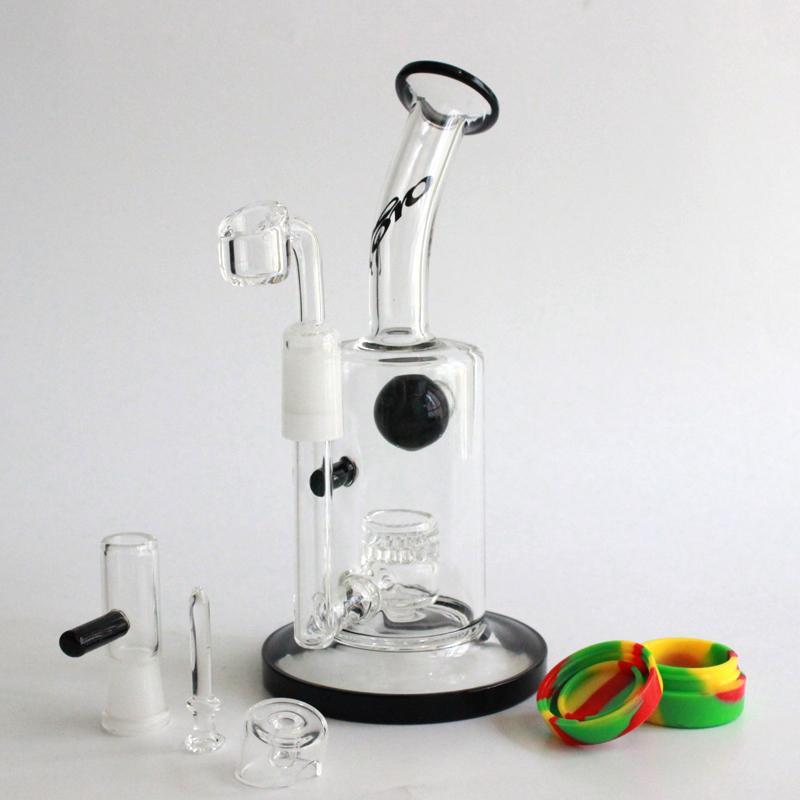 quartz carb cap toro 유리 bongs 물 파이프 벌집 퍼크 버블 러 14MM와 4MM Quartz Banger Nail Oil Rig