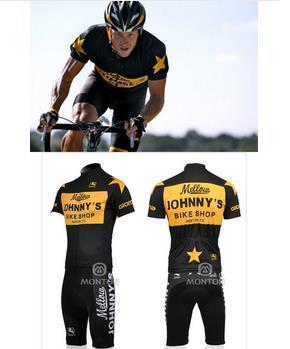 Mellow Johnny Jersey Professional Racing Cycling Clothing Ropa Ciclismo  Jersey+GEL Pad Bib Shorts Mountain Bicycle Clothing Biker Shirts Vintage  Cycling ... 758e8872c