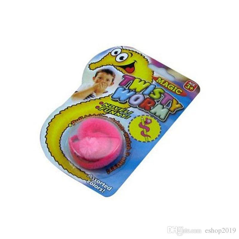 12 pz / lotto Peluche Twisty Worm Wiggle Worm Magic Tricks Fuzzy Street Stage Magia Animali di Peluche Giocattoli Ippocampo