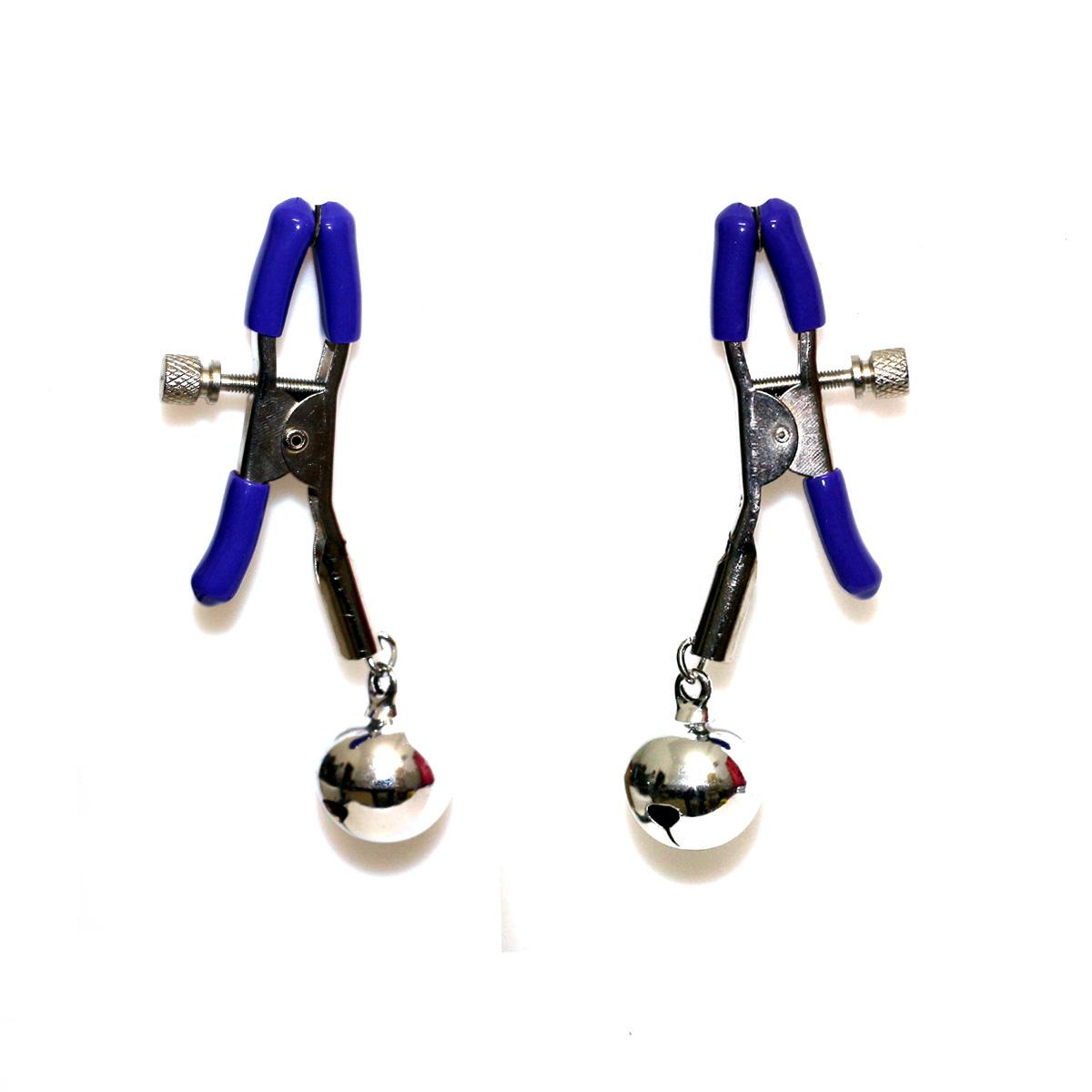 Metal bell Milk Breast Clip Slaves Nipple Clamps Sexy Metal Breast Clips Flirting Teasing BDSM Adult Sex Toys for Women