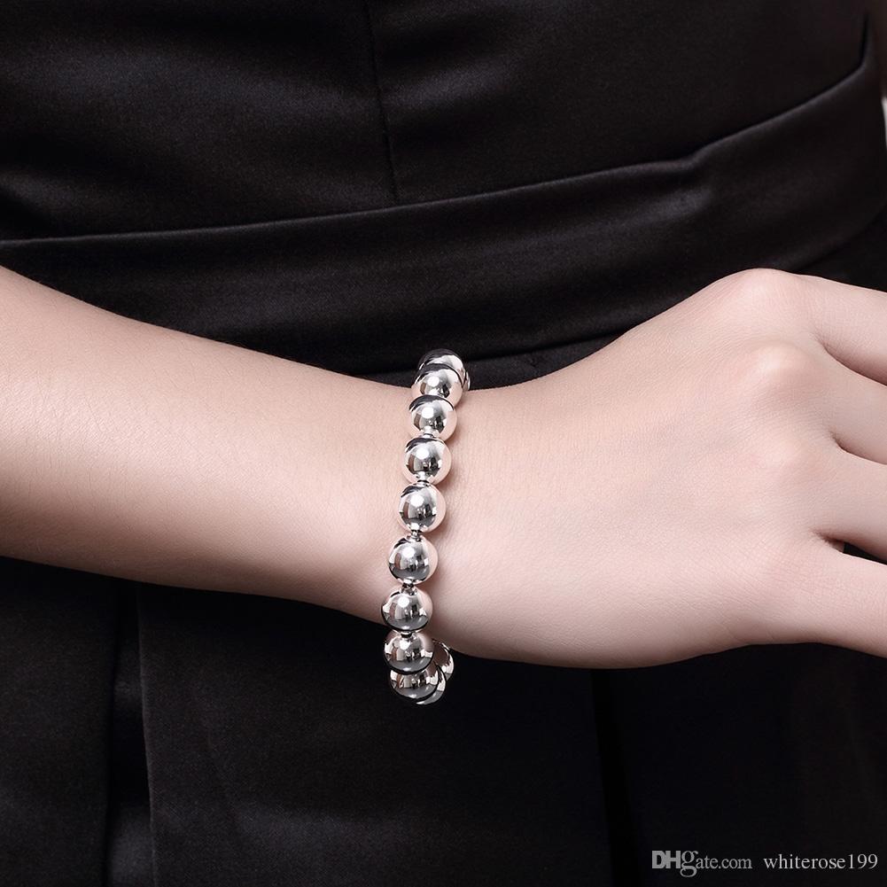 Commercio all'ingrosso - regalo di Natale di prezzi più bassi al minuto, trasporto libero, nuovo braccialetto di modo d'argento 925 H136