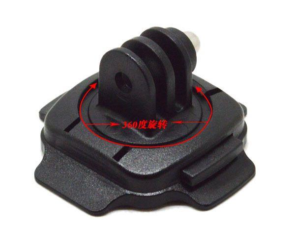 Para accesorios GoPro Mount para casco 360 grados de rotación + 3M Sticker Base curva + bloqueo para Gopro Hero6 negro 5 4 3 SJCAM GP92