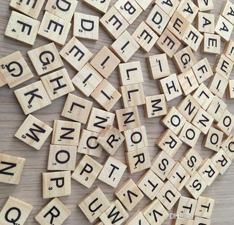 100 قطعة / المجموعة خشبية الخربشة البلاط إلكتروني الأبجدية الخربشة عدد الحرف الكلمات الإنجليزية الأحرف المختلطة-التعليم التعليم اللعب
