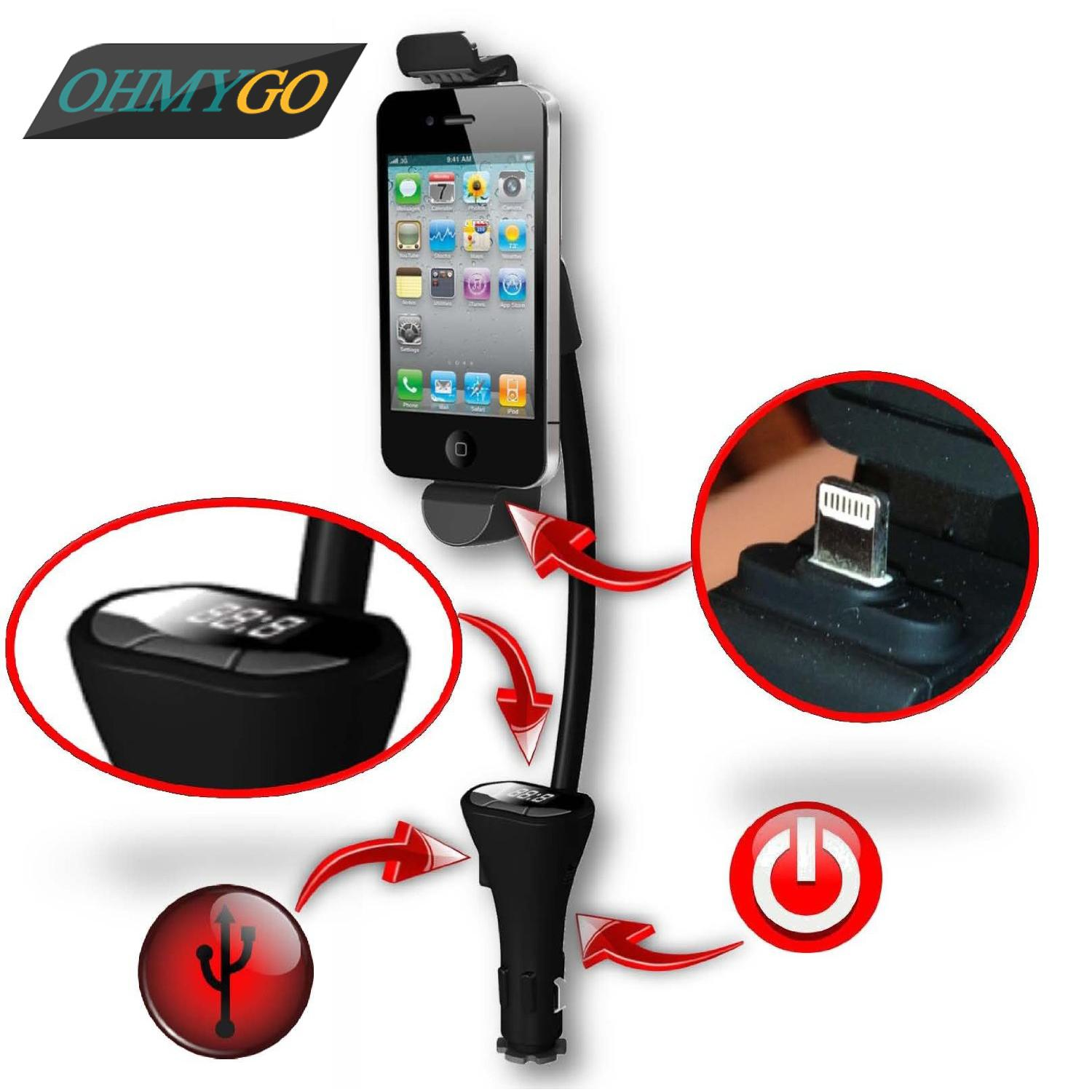 Wireless Car Fm Transmitter In Car Phone Holder Mount Stand With Usb