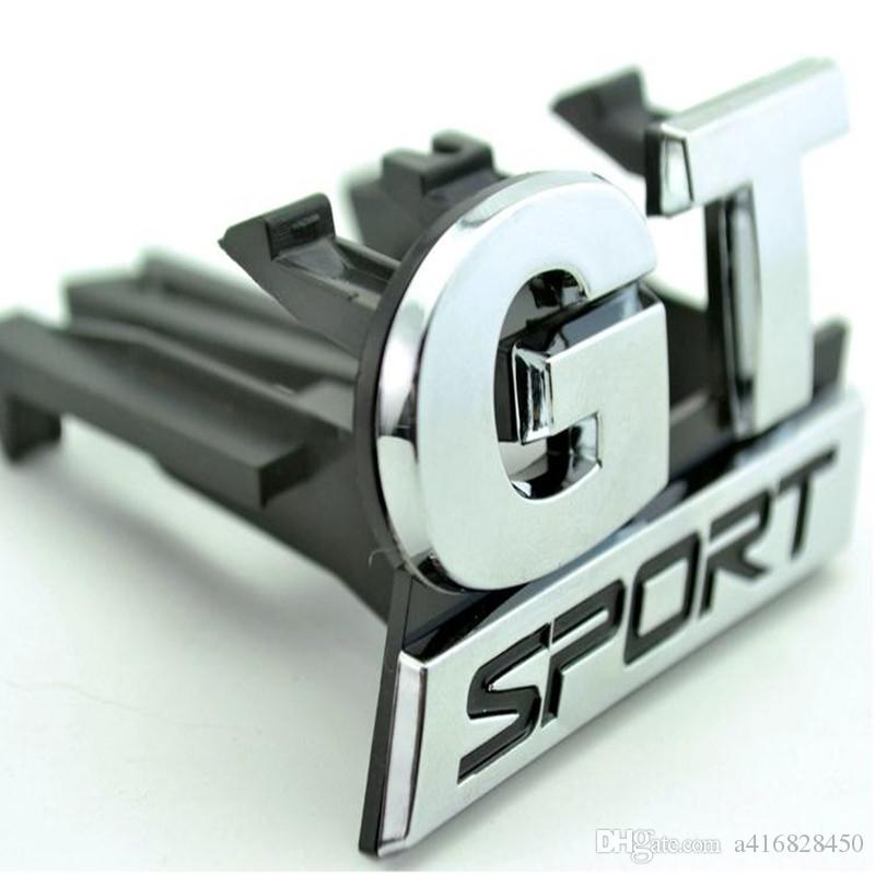 HOT Chrome GT SPORT Front Grill Grille Badge Emblem fit for vw Golf MK5 GT 06-09 car-styling car stickers