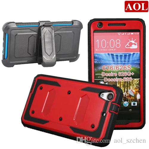 For HTC Desire 626 626G 626S 3in1 Armor Defender Hybrid Heavy Duty  ShockProof Case Cover With Without Belt Clip