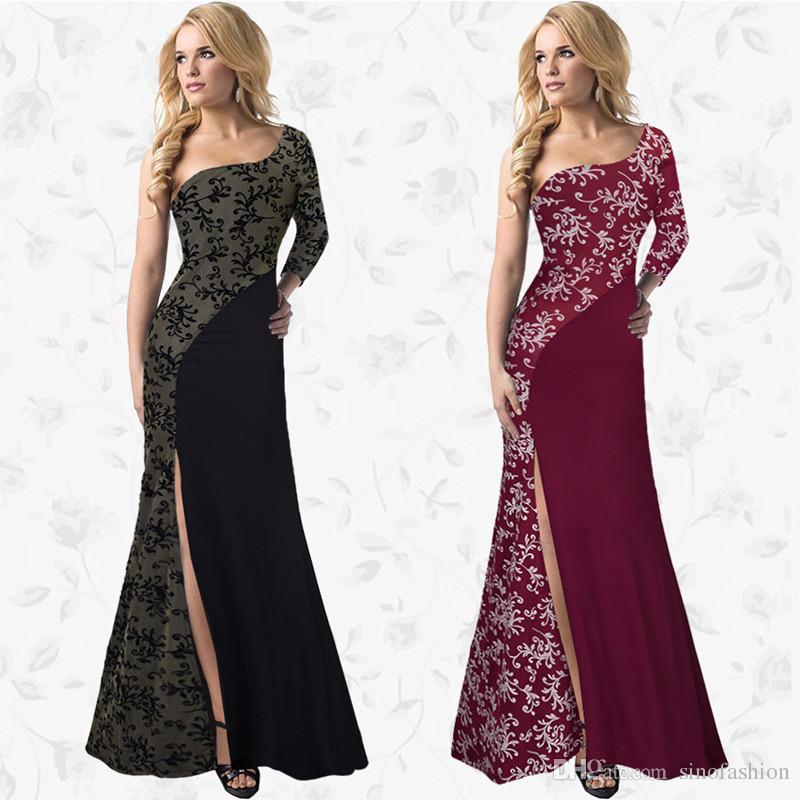 Asymmetrical One Shoulder Party Dress