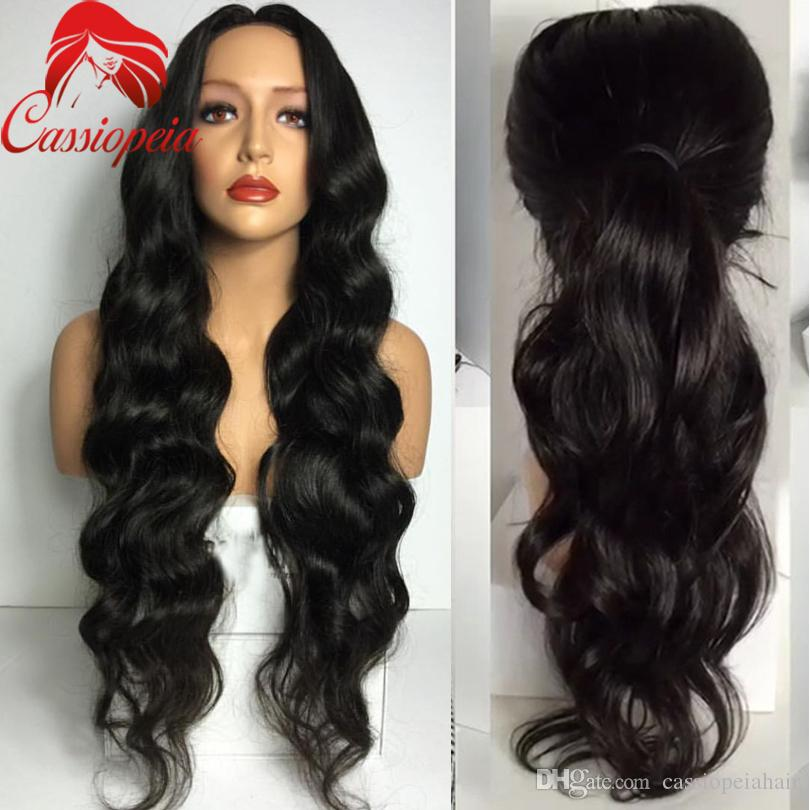 New Wavy Full Lace Human Hair Wigs with Baby Hair 100% Unprocessed Virgin Brazilian Lace Front Wigs Long Wavy Style For Black Women