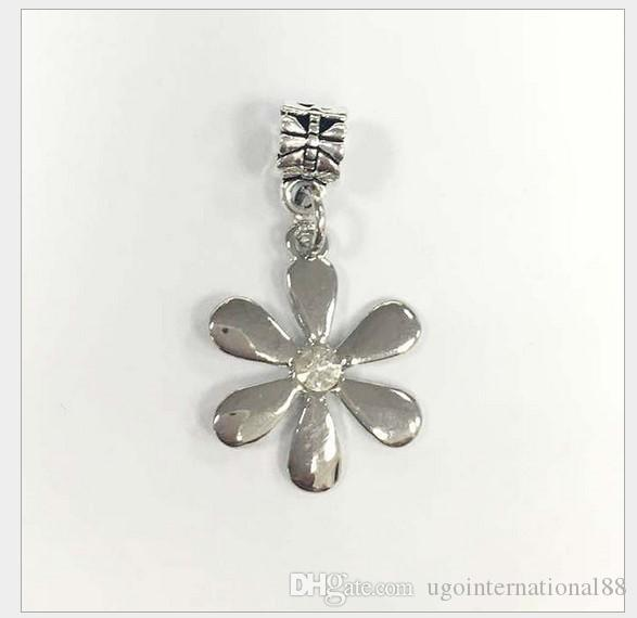 e92bed6a8 2019 Fits Pandora Bracelets Cute Sunflower Silver Charms Bead Dangle Loose Charm  Beads For Wholesale Diy European Sterling Necklace Jewelry From ...