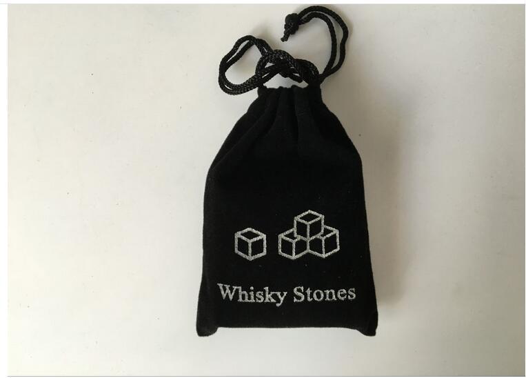 9 stücke set Whisky steine Eis Steine Bar Weihnachten whisky stein mit samt tasche whisky rock stein set Großes geschenk