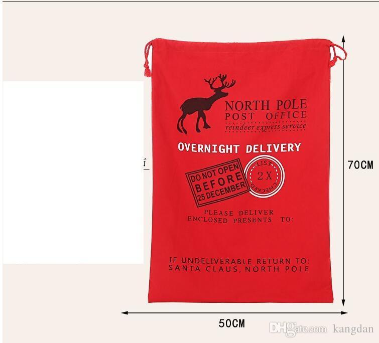 20 cores Sacos de Presente de Natal Saco de Lona Grande Orgânica Pesado Saco de Papai Noel Saco de Cordão Com Renas Papai Noel Saco Sacos para o miúdo