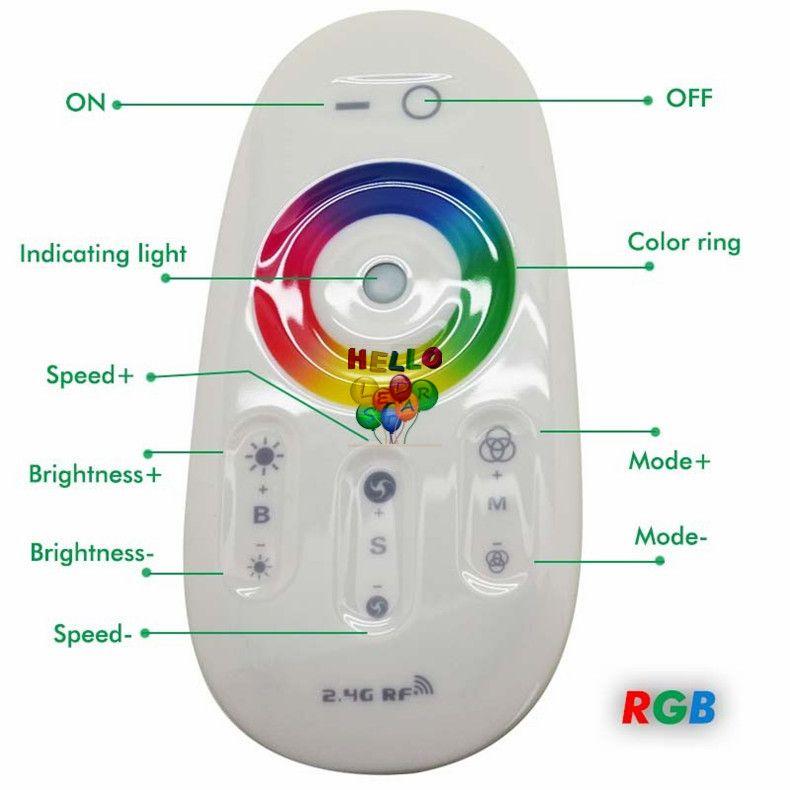 DC 12 V 24 V RGBW RGB Levou Controle Remoto 2.4G RF Touch Screen 6A 4 Canal para smd 5050 3528 2835 levou luzes de tira