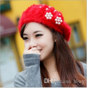 8677cfaf7f58 2018 Elegant 2016 New Women Hat Winter   Fall Beanies Knitted Hats For Woman  Rabbit Fur Cap Autumn And Winter Ladies Female Fashion Skullies From Hlwy