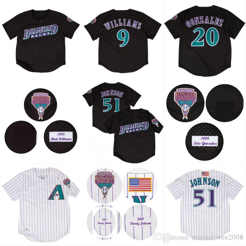 177771b9 ... arizona diamondbacks basketball 512a2 ce64f; sweden jerseys 9 matt  williams 20 luis gonzalez 51 randy johnson 1999 2001 throwback matt williams