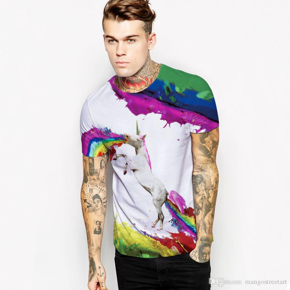 Httpwww Overlordsofchaos Comhtmlorigin Of The Word Jew Html: Mens T Shirts Fashion 2016 Rainbow Horse 3d Printing Brand